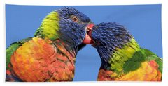 Rainbow Lorikeets Beach Towel