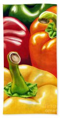 Rainbow Of Peppers Beach Towel