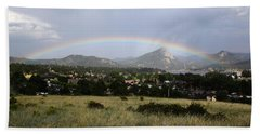 Rainbow Over Lake Estes Beach Sheet