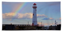 Rainbow Over Watwatam Light Beach Towel