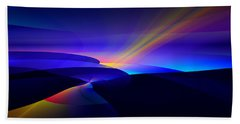 Beach Sheet featuring the digital art Rainbow Pathway by GJ Blackman