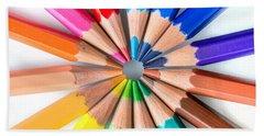 Rainbow Pencils Beach Towel