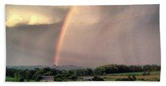 Rainbow Poured Down Beach Towel