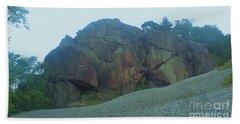 Beach Towel featuring the photograph Rainbow Rock by John Williams
