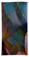 Rainbow Shingles Beach Sheet by Holly Blunkall