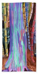 Rainbow Tree Beach Towel by Lynne Reichhart