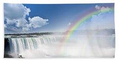 Rainbows At Niagara Falls Beach Towel