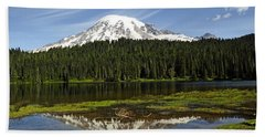 Beach Sheet featuring the photograph Rainier's Reflection by Tikvah's Hope