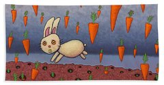 Raining Carrots Beach Towel by James W Johnson