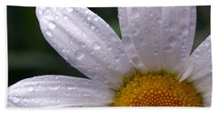 Rainy Day Daisy Beach Towel