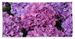 Beach Towel featuring the photograph Rainy Day Flowers by Ira Shander