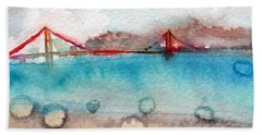 Rainy Day In San Francisco  Beach Sheet by Linda Woods