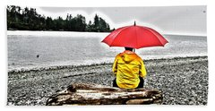 Rainy Day Meditation Beach Towel