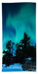 Rainy Lake Lights Beach Towel