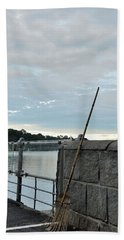 Beach Sheet featuring the photograph Rake Rests Itself After A Hard Days Work by Imran Ahmed