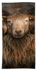 Ram Portrait Beach Towel