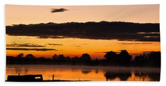 Rancher's Sunrise Beach Towel by Steven Reed