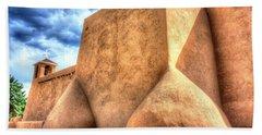 San Francesco De Asis, Rancho De Taos I Beach Towel by Lanita Williams