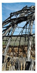 Beach Towel featuring the photograph Rancho Sierra Vista Satwiwa Chumash Ap Home by Kyle Hanson