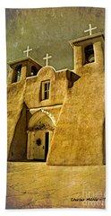 Ranchos Church In Old Gold Beach Towel