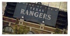 Rangers Ballpark In Arlington Color Beach Sheet