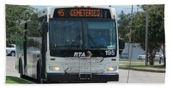 Cemeteries - Rapid Transit Authority - New Orleans La Beach Towel