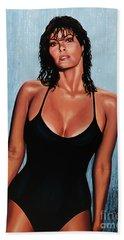 Raquel Welch Beach Sheet by Paul Meijering