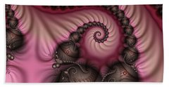 Beach Sheet featuring the digital art Raspberry Ice Cream For Breakfast by Gabiw Art