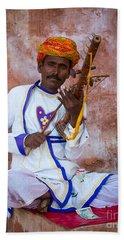 Ravanhatha Musician Beach Towel