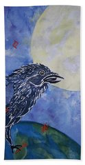 Raven Speak Beach Towel by Ellen Levinson