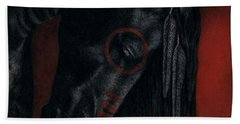 Raven Wing Beach Towel by Pat Erickson