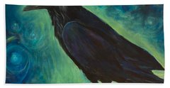 Space Raven Beach Towel