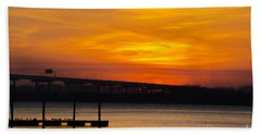 Beach Towel featuring the photograph Orange Blaze by Dale Powell