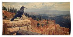 Raven's Eye View Beach Towel by Meghan at FireBonnet Art