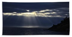 Rays Of Hope At Cape Kiwanda Oregon Beach Towel