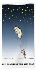 Reach For The Stars Beach Towel