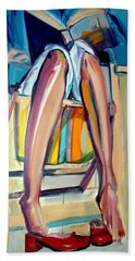 Beach Towel featuring the painting Read On by Ecinja Art Works