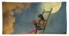 Reading At Moonlight Beach Towel