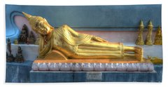reclining Buddha Beach Towel