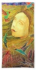 Beach Towel featuring the painting Recordando A Puerto Rico by Oscar Ortiz