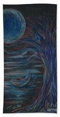 Red At Midnight Beach Towel