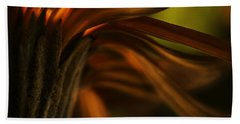 Beach Sheet featuring the photograph Red Autumn Blossom Detail by Peter v Quenter