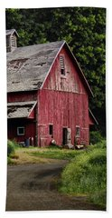 Red Barn - County Road  Beach Towel