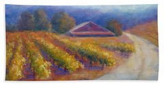 Red Barn Vineyard Beach Towel