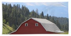 Barn - Pikes Peak Burgess Res Divide Co Beach Towel