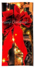Red Bow Christmas 8950 Beach Towel