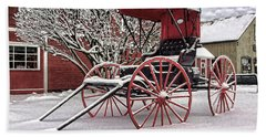Red Buggy At Olmsted Falls - 1 Beach Towel