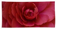 Red Camellia Beach Sheet by Cindy Garber Iverson