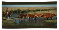 Red Cattle Beach Towel