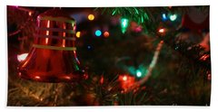 Red Christmas Bell Beach Towel